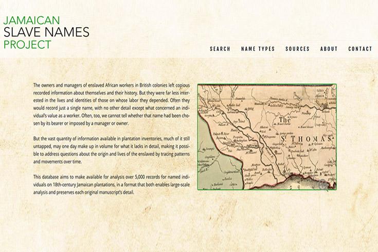 Jamaican Slave Names Project JonasWeb Case Study